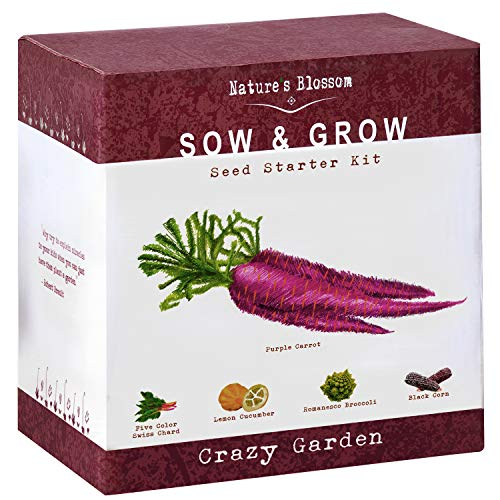 Exotic Vegetables Grow Kit - 5 Unique Plants To Grow From Seed. Complete Gardening Starter Set For Kids and Adults. Unique Holiday Present For Boys and Girls, Men and Women. Best Growth Rates for $<!--$19.99-->