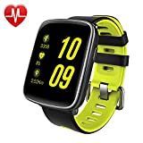 Smart Watch,Willful SW018 Bluetooth Smartwatch IP68 Waterproof Sport Fitness Watch with Heart Rate Monitor Pedometer Sleep Monitor SMS App Notice Alarm Clocks for iPhone IOS Android Phones (Green)