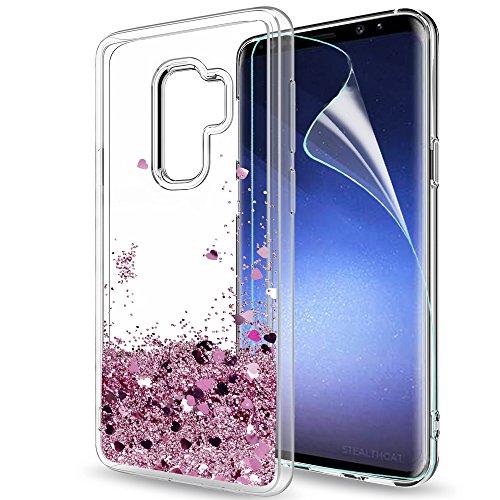 Samsung Galaxy S9 Plus Glitter Case with HD Screen...