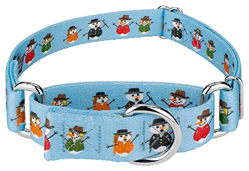 (Country Brook Petz | Caroling Snowmen Martingale Dog Collar - Christmas Collection with 13 Designs (Large))