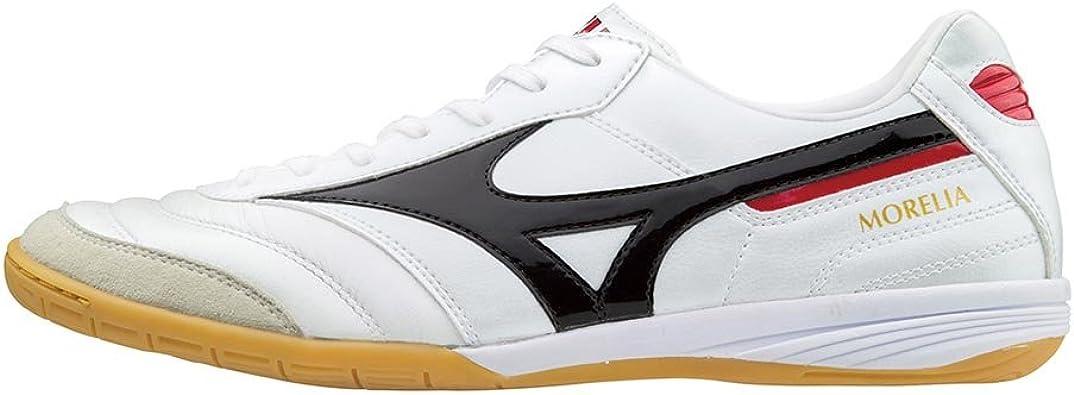 Mizuno Morelia Indoor, Zapatilla de fútbol Sala, White-Black-Chinese Red: Amazon.es: Zapatos y complementos