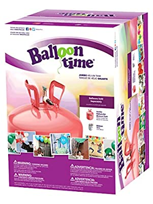 Balloon Time Disposable Helium Tank 14.9 cu.ft - 50 Balloons and Ribbon Included by Blue Ribbon by Blue Ribbon