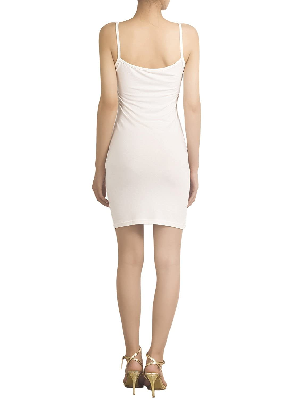 iB-iP Womens Cotton Underdress Short Slips Slim Control Mid-Thigh Bodycon Dress