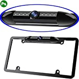 Night Vision License Plate Frame Car Rearview Camera 8 Infrared LEDs Wide Viewing