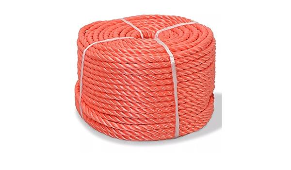 FZYHFA Cuerda Marina Naranja,de Polipropileno 6 mm 200 m ...