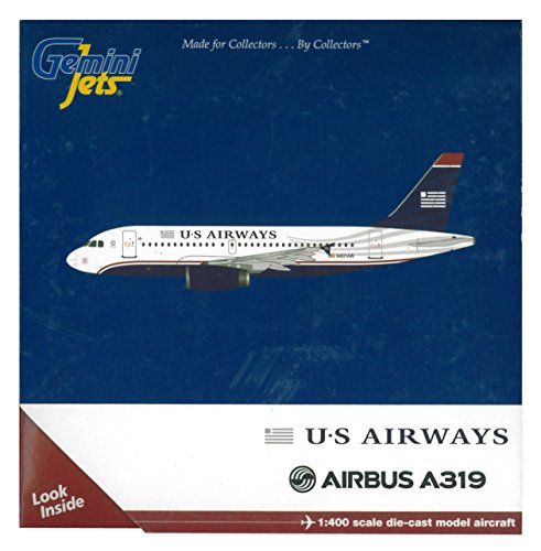 GeminiJets U.S. Airways A319 1:400 Scale Die Cast Aircraft