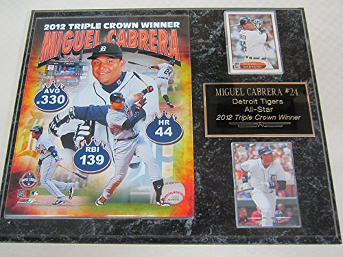 Tigers Miguel Cabrera TRIPLE CROWN 2 Card Collector Plaque w/ 8x10 Photo SOLD OUT EDITION!!