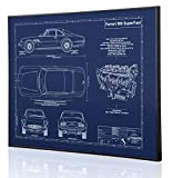 Ferrari 500 SuperFast Blueprint Artwork-Laser Marked & Personalized-The Perfect Ferrari Gifts