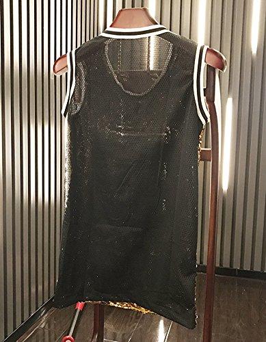 SK Studio de las mujeres Hip Hop verano sin mangas chaleco camiseta de tirantes camiseta de tirantes dorado