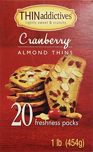 Cranberry Cookies (THINaddictives cranberry almond 20 pack-1lb(454g))