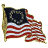 US Flag Store Waving Betsy Ross Flag Lapel Pin
