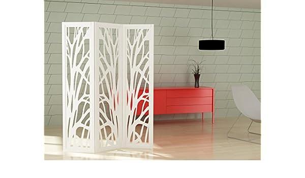 mouk Tree Biombo Decorativo Lacado Blanco Mate MDF 25mm: Amazon.es: Hogar