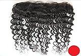 DaJun Hair 6A 13''*4'' European Deep Wave Lace Front Closure Natural Colour(trademark:DaJun)