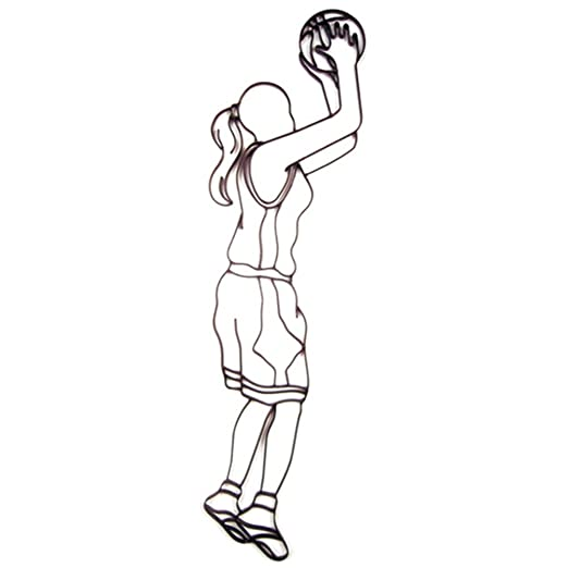 Jugador de Baloncesto femenino chica deportes arte de pared de ...