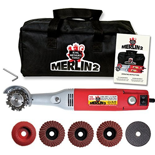 Mini Angle Grinder Kit (King Arthur's Tools 10005 Merlin 2 Mini Grinder Carving Kit)
