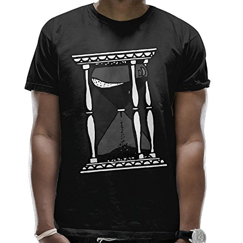 Men Hourglass Drawing Rounded Collar T-Shirt Casual - Skrillex Glasses