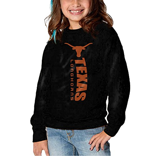 HNJK Texas Longhorns Logo Girl's&boy's Soft And Cozy Crew Neck Sweats 5-6 Toddler ()