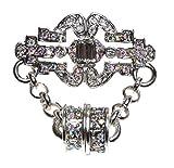 Kirks Folly DECO DREAMS MAGNETIC ENHANCER CONVERTER PIN silvertone
