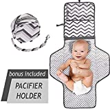 Portable Baby Diaper Changing Pad | Cushioned & Waterproof Changing Station Cover for Girls & Boys | Travel Organizer Bag with Liners & Stroller Strap | Perfect for Infants & Newborns | Great as GlFT