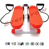 2016 Evergrow Portable Stepper Stretchable Mini Step Machine Waist Leg Buttock Exercise Calories Burning Monitor Display---Orange