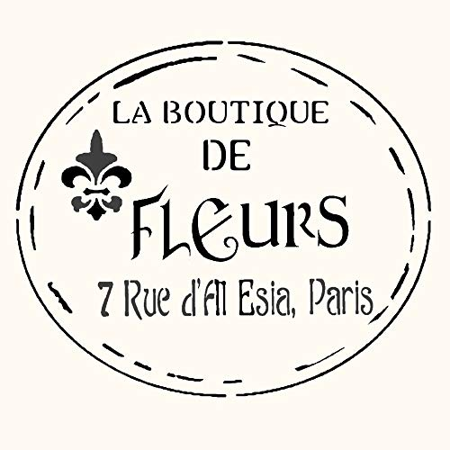Vintage French Boutique Sign Stencil Mylar Signs Shabby Chic Furniture Painting ()