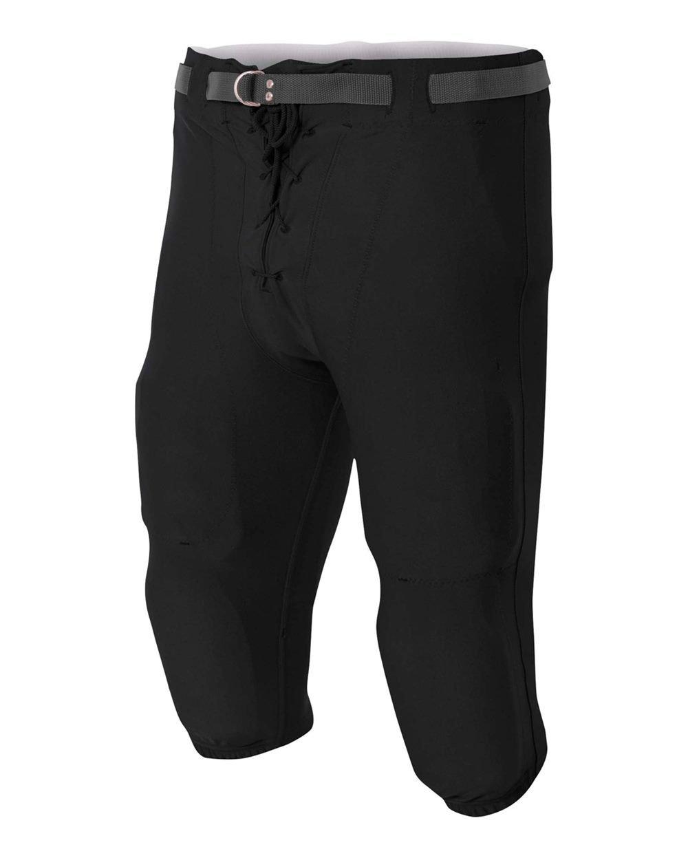 Football Game & Practice Moisture Wickingクール快適パンツwith Knee & Thigh Padポケット(ブラック、ホワイト、子供&大人サイズ、) B06VVSFC9F ブラック Youth Medium