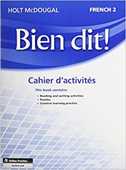 :IBOOK: Bien Dit!: Cahier D'activités Student Edition Level 2 (French Edition). yourself which Finite sobre eller apenas 511DIXpXhAL._SY344_BO1,204,203,200_