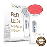 Project E Beauty RED Light Therapy Machine - Collagen Boost 630nm - Skin Firming and Lifting. Rechargeable/USB/Wall Plug Charging - Light Emission Control Sensor