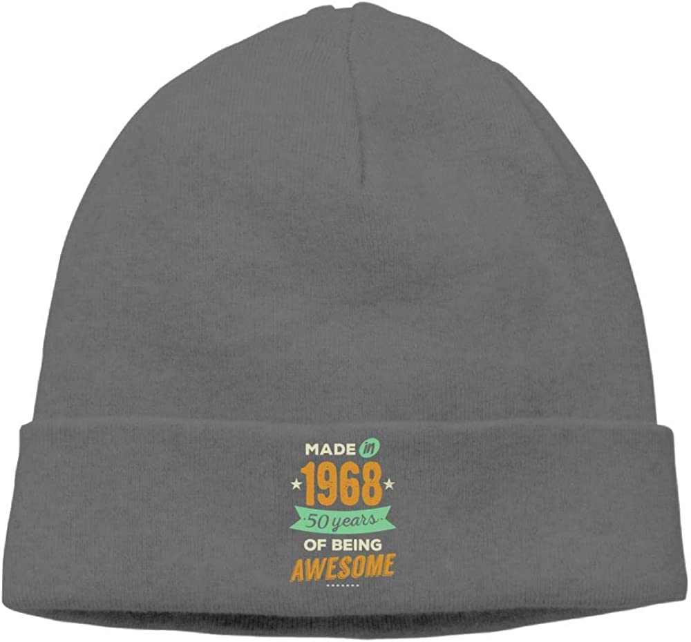 Riokk az Skull Cap Beanie Knit Caps Men Made in 1968 50 Years of Being Awesome Winter DeepHeather