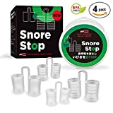 Snore Stop Japanese Standard - Snore Stopper Device - New Advanced Model - Anti-Snoring Nose Vents with Travel Case - Safe Snoring Solution - Set of 4 Nasal Dilators for Protecting Your Sleep