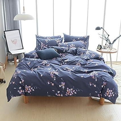 Amazon.com  Adyonline 100%Cotton Floral Duvet Cover Sets for Womens ... 4d944b878c