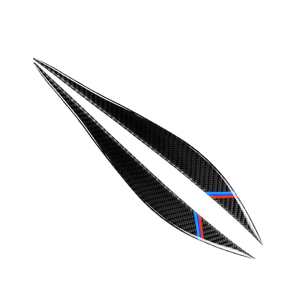 KKmoon Sopracciglia con fari in Fibra di Carbonio, Copertura Palpebra per palpebre, Decorazione con Styling, 1 Paio per BMW F30 F31 F32 F33 F34 (2012-2020), Stile B