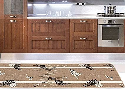 Casa tessile oasis tappeto passatoia ciniglia 55x290 cm. bordeaux