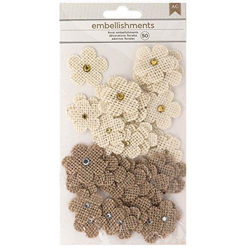 Embellishments Paper Flower (American Crafts 346680 Paper Flowers, Burlap)