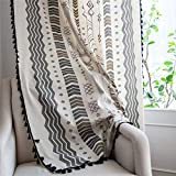 YOU SA 2PCS Cotton Linen Boho Print Bedroom
