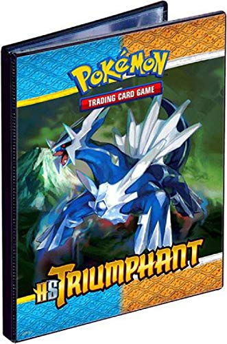 (Pokemon Card Supplies 4Pocket Binder HS Triumphant Palkia Dialga)