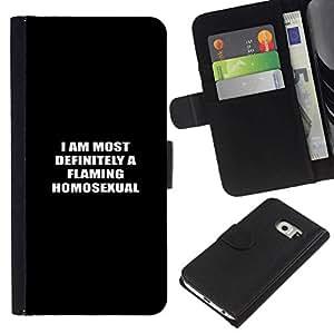 All Phone Most Case / Oferta Especial Cáscara Funda de cuero Monedero Cubierta de proteccion Caso / Wallet Case for Samsung Galaxy S6 EDGE // Homosexual