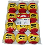 Penn QST 36 Tennis Balls - Youth Foam Red Tennis Balls for Beginners, 12 Ball Polybag
