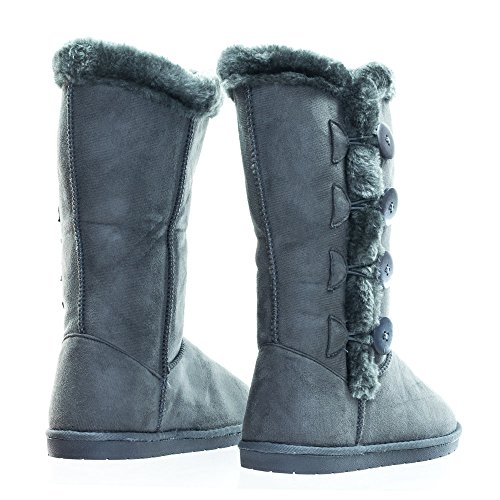 Blossom Women Mid Calf Faux Fur Boots Tina Gray yosAW5H8C