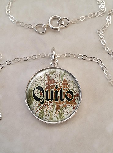 (Quito 1764 Map .925 Sterling Silver Necklace)
