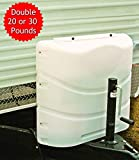RV Propane Tank Cover for 2 x 20 or 30 Pounds Cylinder Easy Access to Gas Valves Heavy Duty Strong and Durable, RV and Outdoor Accessories (White) & Free Ebook by Stock4All