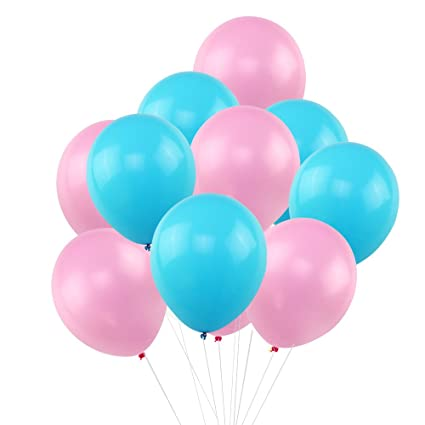 KUMEED Pink Sky Blue Balloons 12quot Latex Vivid Bright Color Balloon Globos Party Birthday
