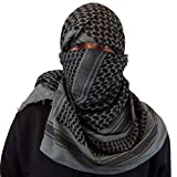 Maddog Sports Shemagh Tactical Desert Scarf - Grey/Black