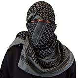 Zephyr Shemagh Tactical Desert Scarf - Grey/Black