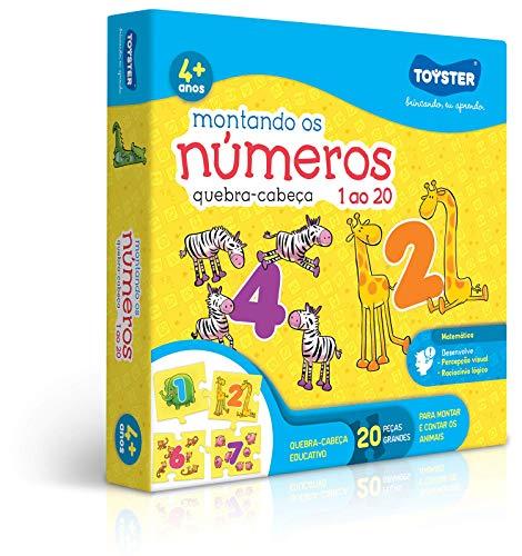 Quebra Cabeça Montando Os Números 1 Ao 20 Novo Toyster Brinquedos