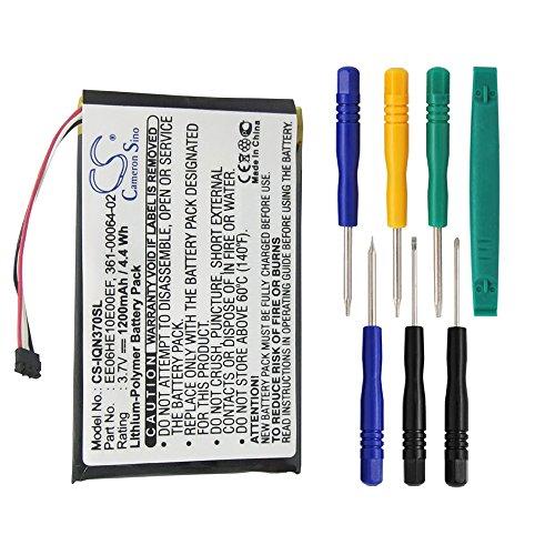 Cameron Sino 1200mAh Battery for Garmin Nuvi 3700, Nuvi 3760, Nuvi 3760T, Nuvi 3790, Nuvi 3790T with 7/pcs Toolskits by Cameron Sino