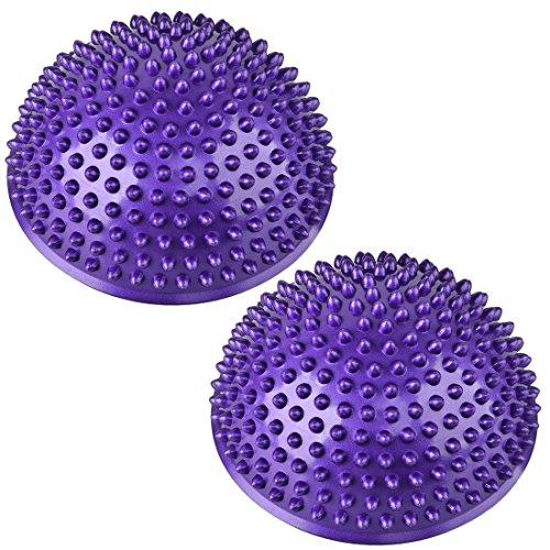 Balance Pods, PeleusTech 1Pair Hedgehog Balancing Pods Domed Stability Pods 16cm/6.3inch for Children and Adults - Purple