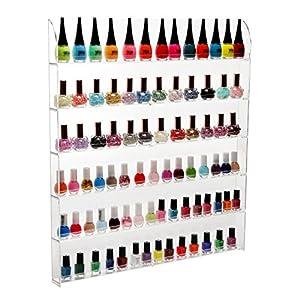 Amazon.com: (102 Bottles) 6 Shelf Pro Clear Acrylic Nail