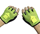 DC-BEAUTIFUL GREEN Cycling Gloves Mountain Bike Gloves with LED Turn Signal Lights, Half Finger Outdoor Gloves with Indicator Light for Riding, Sports
