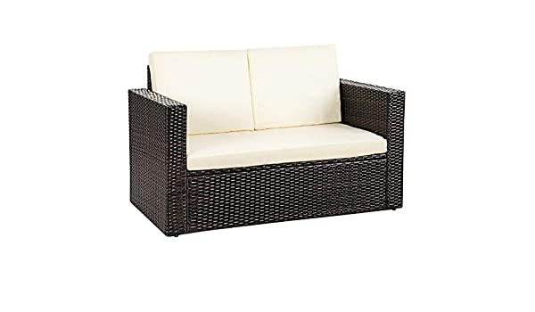 Amazon.com : LordBee Modern Design Outdoor Patio Rattan Sofa ...